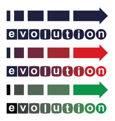 evolution concept from simple to perfect vector image