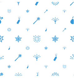 fireworks icons pattern seamless white background vector image