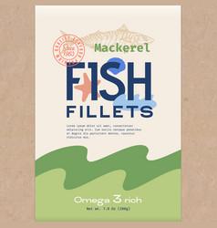 fish fillets abstract fish packaging vector image
