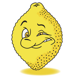fresh lemon cartoon vector image