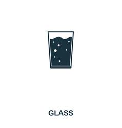 glass icon line style icon design ui vector image