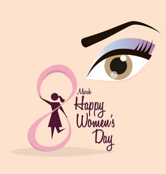happy womens day eight march celebration vector image