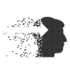 Head plug-in arrow fractured pixel icon vector