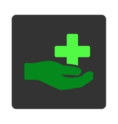 Healthcare Donation Flat Button vector