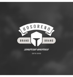 Helmet Logotype Design Element in Vintage Style vector
