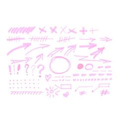 highlighter marks set vector image