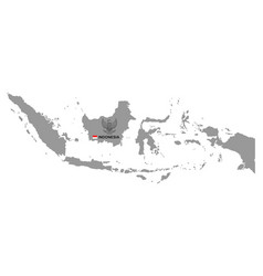 Indonesia map with coat arms vector