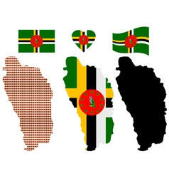 Map of Dominica vector
