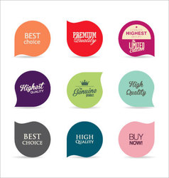 Modern badges collection 5 vector