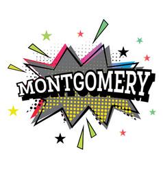 montgomery comic text in pop art style vector image