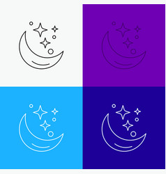 moon night star weather space icon over various vector image