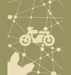 motorcycle icon simple pictogram vector image