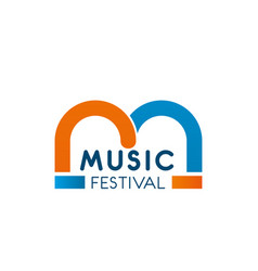 Music festival letter m icon vector