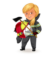 not female professions strong woman miner or road vector image