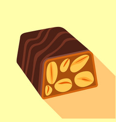 nut candy icon flat style vector image