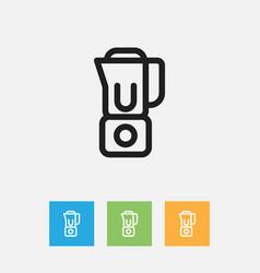 Of food symbol on blender vector