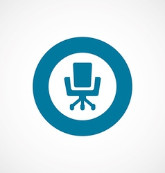 Office chair bold blue border circle icon vector