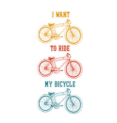 Old bicycle emblem vector