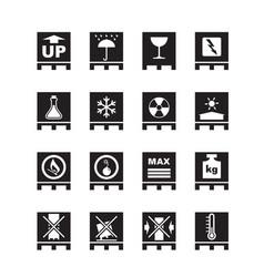 Packaging symbols on pallets vector
