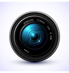 Photography background camera photo lens with vector image