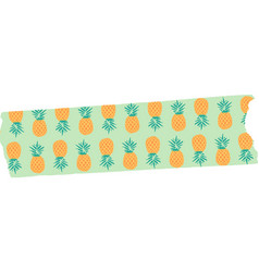 Pineapple washi tape free vector