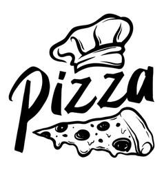 pizza custom logo vector image