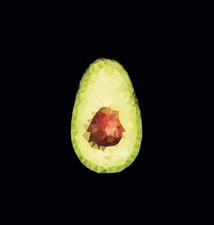 polygonal avocado vector image
