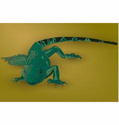 realistic green lizard vector image