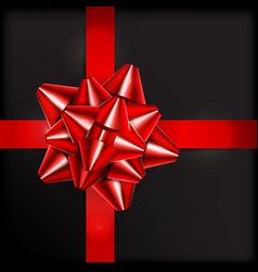 red bow for packing gifts vector image