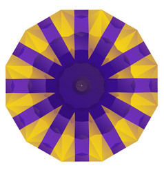 round purple and gold geometric background vector image