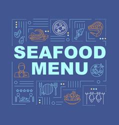 seafood menu word concepts banner vector image