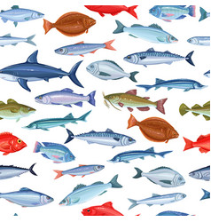 Seamless pattern with fish vector