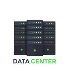 server room data center vector image