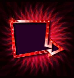 shining retro billboard vector image