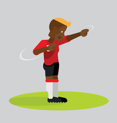 Soccer players celebrating with dab dancing vector