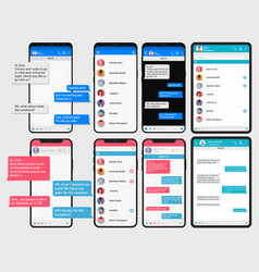 social network concept chating phone and pad vector image