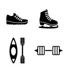 sport simple related icons vector image