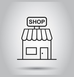 store icon shop build business concept simple vector image