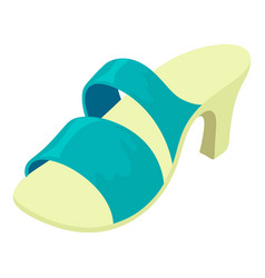 summer shoe icon isometric style vector image