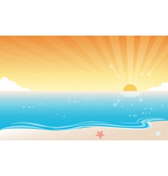 Sunset Beach Background vector image