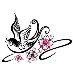 Swallow spring vector