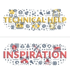 Technical Help and Inspiration headings titles vector