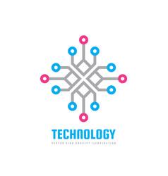 technology - logo template concept vector image