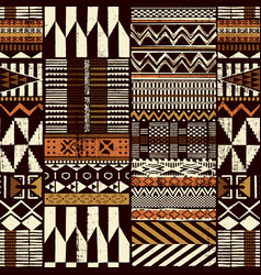 tribal african style fabric patchwork background vector image