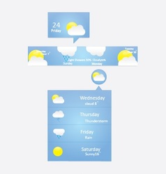 weather menu vector image