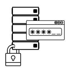 Web hosting and padlock design vector