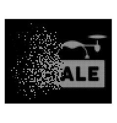 white dust dotted halftone airdrone sale icon vector image