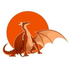 Big red dragon vector image