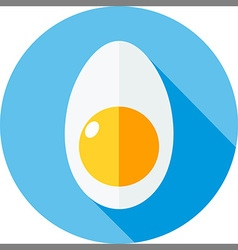 egg flat vector image vector image