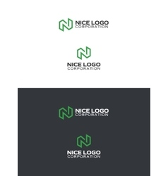 logo with a green letter n vector image